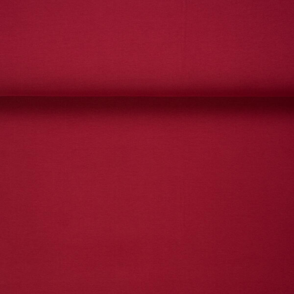 ORGANIC FRENCH TERRY BRUSHED BURGUNDY RED