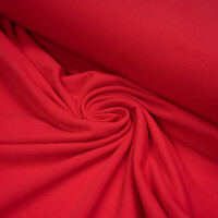 ORGANIC FRENCH TERRY BRUSHED STRAWBERRY RED