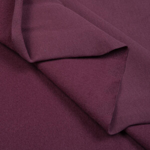 ORGANIC FRENCH TERRY BRUSHED RED GRAPE