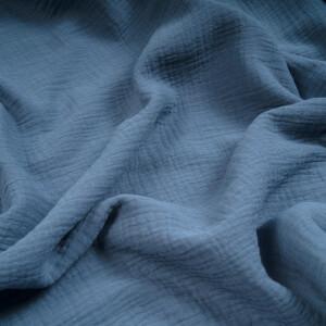 ORGANIC DOUBLE GAUZE BASIC IMPERIAL BLUE