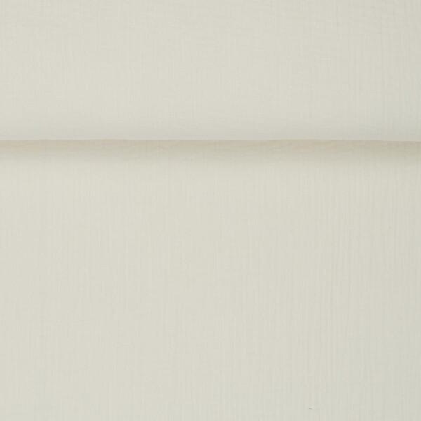 ORGANIC DOUBLE GAUZE BASIC PAPYRUS WHITE
