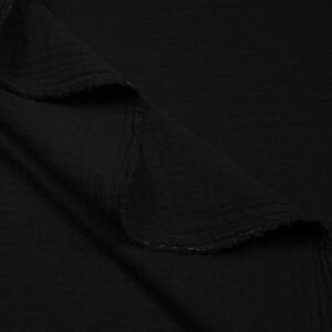 ORGANIC DOUBLE GAUZE BASIC BLACK