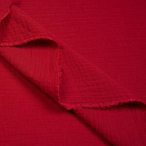ORGANIC DOUBLE GAUZE BASIC BERRY RED