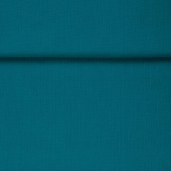 ORGANIC DOUBLE GAUZE BASIC BAY BLUE