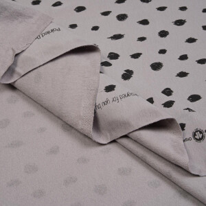 ORGANIC FRENCH TERRY BRUSHED DOTS GREY
