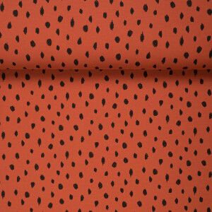 ORGANIC FRENCH TERRY BRUSHED DOTS RUST