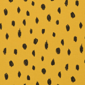 ORGANIC FRENCH TERRY BRUSHED DOTS OCHRE