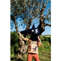 JERSEY T-SHIRT PANEL CHAPERONE ROUGE