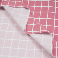 ORGANIC FRENCH TERRY BRUSHED GRID MAUVE