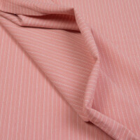 JERSEY KNITTED STRIPES OLD ROSE